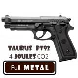 Pistol 4 Joules Full Metal Taurus PT 92 Black Edition CYBERGUN CO2