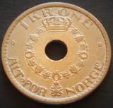 Moneda istorica 1 COROANA - NORVEGIA, anul 1949   *cod 3332