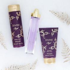 Set femei Divine Royal - Parfum, Crema de dus, Lotiune corp - Oriflame - Nou