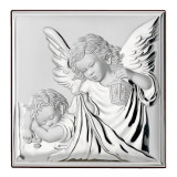 Icoana Argint 18x18cm Ingerul Pazitor COD: 3461