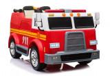 Masinuta electrica de pompieri, rosu