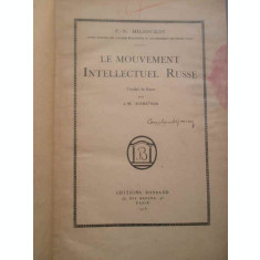 Le Mouvement Intellectuel Russe - P.-n. Milioukov ,520032