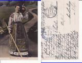 Romania - tipuri, port popular-cenzura militara WWI, WK1, Circulata, Printata