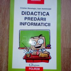 Masalagiu Didactica predarii informaticii, 2004
