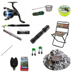 Set lanseta pescuit telescopica 3.6m , mulineta pentru Pescuit Sportiv si accesorii