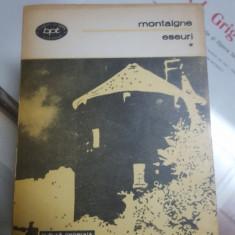 Montaigne, Eseuri, București 1984