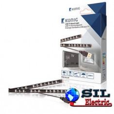Banda dubla LED USB pentru televizor 50cm lumina rece Konig