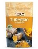 Pudra de Turmeric (Curcuma) Bio 150gr Dragon Superfoods Cod: 3800232735957