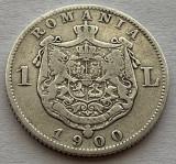 1 Leu 1900 Argint, Romania, VF