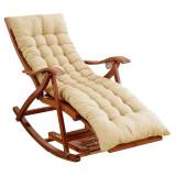 Balansoar de terasa sezlong fotoliu living lemn rezistent cu perna crem