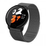 Cumpara ieftin Ceas smartwatch unisex, rezistent la apa, compatibil cu Android si iOS, negru, Gonga