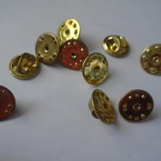 bnk ins Fluturas metalic pentru insigne - aurii - 10 bucati