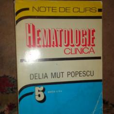 Hematologie clinica an 1999/337pag-/descriere+ poza!!!!-  Delia Mut Popescu
