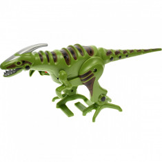 Dinosaur robot de jucarie, merge, are sunete specifice si lumini, verde - D103V
