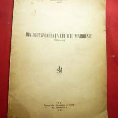 George Juvara -Din Corespondenta lui T. Maiorescu -Ed.1942dedicatie si autograf