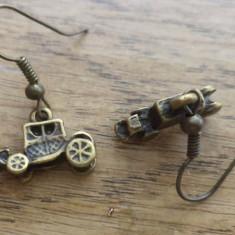 Cercei masina de epoca 3D - bronz