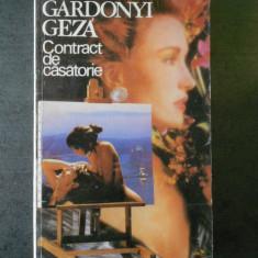 GARDONYI GEZA - CONTRACT DE CASATORIE