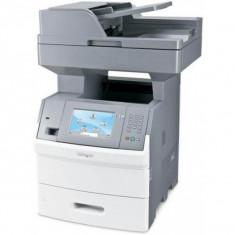 Imprimanta Multifunctionala LaserJet Monocrom, A4, Lexmark X654de, 53 pagini/minut, 30000 pagini/luna, 1200 x 1200 DPI, USB, Network, Fax, Duplex,