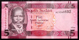 South Sudan 5 Pounds 2015 UNC necirculata  **