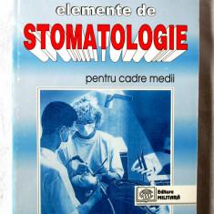 """""""ELEMENTE DE STOMATOLOGIE PENTRU CADRE MEDII"""", Virgil Tuican, 1998. Absolut noua"""