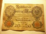 Bancnota 20 Marci iunie 1907 Germania , cal. mediocra