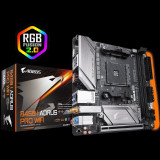 Placa de baza Gigabyte B450 I AORUS PRO WIFI AMD B450 2 x DDR4 DIMMsockets supporting up to 32 GB of system memory Support