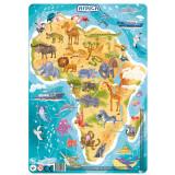 Puzzle cu rama - Africa (53 piese)