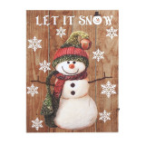 Tablou decorativ Let it Snow, 30 x 40 cm, 7 x LED, model om de zapada