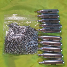 1.500 bile otel pt. pistoale 4.5 mm ( 177 ) + 10 capsule SWISS ARMS