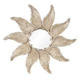 Oglinda decorativa perete polirasina auriu vintage 45 cm x 3 cm Elegant DecoLux, Clayre & Eef