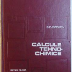 CALCULE TEHNO - CHIMICE de S.D. BESKOV , 1970