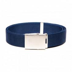 Curea pentru barbati culoare albastru lungime ajustabila catarama din metal A029