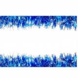 Beteala pentru Craciun, Lungime 12m, Culoare Albastru-Alb, Diametru 5cm
