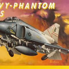 Machetă avion NAVY-PHANTOM F-4S (1:72) Neasamblat, kit complet, cutia originală!
