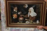Tablou clasic pictat manual ulei pe panza, femeie batrana prajind oua Velazquez, Nud, Realism