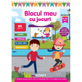 Carte pentru copii Blocul meu cu jocuri Girasol, 9 - 10 ani