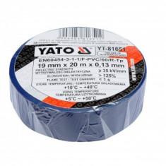 Banda izolatoare albastra 19mmx0.13mmx20m, Yato YT-81651
