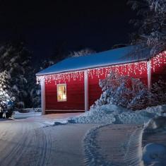 Blumfeldt Forsthaus luminide Crăciun 16 m 320 LED-uri Snowmotion albe reci