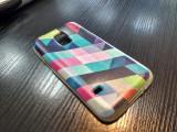 Carcasa protectie telefon Samsung Galxy S5 Mini, husa spate telefon, model desen