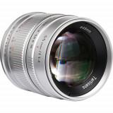 Obiectiv manual 7Artisans 55mm F1.4 Silver pentru Sony E-mount