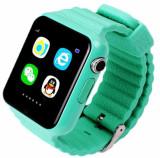 Ceas GPS Copii si Seniori iUni V8K, Touchscreen 1.54 inch, Pedometru, Bluetooth, Notificari, Camera, Green