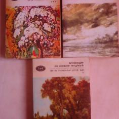 Antologie de poezie engleza , vol 1 , 3 si 4