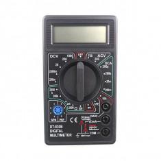 Multimetru digital afisaj LCD, aparat de masura cu 6 functii, negru