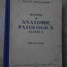 MANUAL DE ANATOMIE PATOLOGICA CLINICA - TITU VASILIU