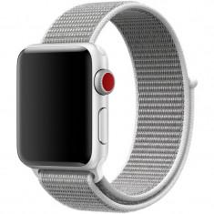 Curea pentru Apple Watch 40mm iUni Woven Strap, Nylon Sport, White Gray