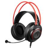 """CASTI A4TECH Bloody gaming cu fir tip standard utilizare multimedia (PC and more) microfon pe casca iluminare negru / rosu jack 3.5"""" """"G200&q"""
