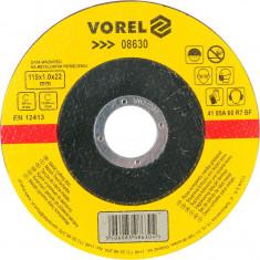 Disc abraziv pentru debitat metale 115x1x22 mm VOREL