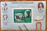 Cumpara ieftin PARAGUAY-1966-'' Pictura -Scriitori celebri''-Colita=MNH( Cat Mi. nr 85=20e)