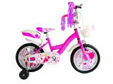 """Bicicleta Copii Vision Princesse Culoare Roz Roata 16"""" otelPB Cod:201616000008"""