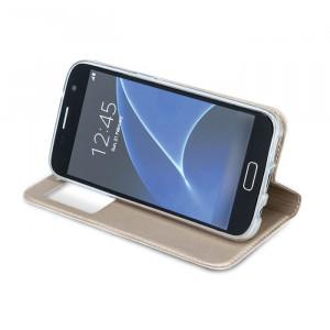 Husa SAMSUNG Galaxy S6 Edge - Smart Look (Auriu)